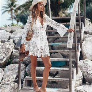 New!🌟Lace Crochet Swimmer Cover Up